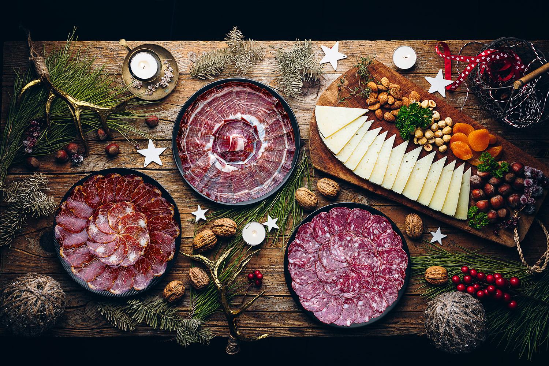 Platos surtido ibérico Navidad
