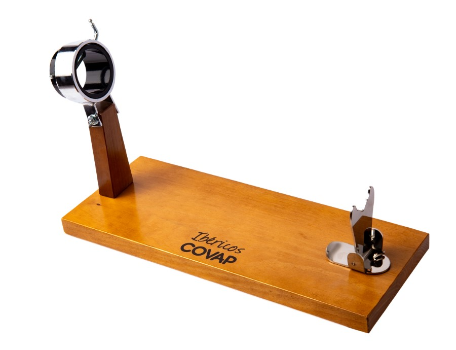 Jamonero COVAP de madera con cabezal giratorio